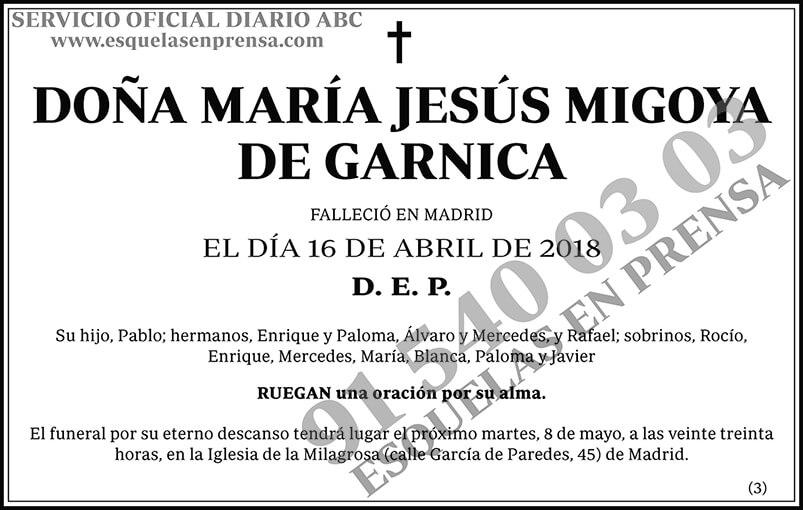 María Jesús Migoya de Garnica